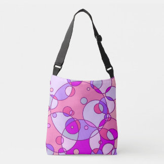 Retro rosa Blasen-Bote-Tasche Tragetaschen Mit Langen Trägern