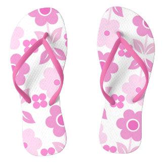 Retro rosa Blumen drehen Reinfälle um Flip Flops