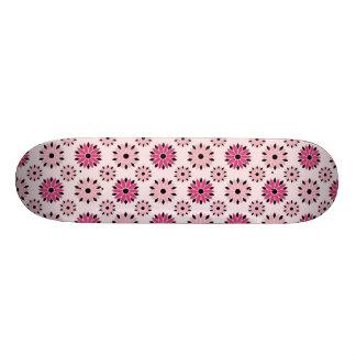Retro rosa Blumenmuster Skateboarddecks