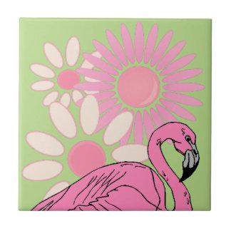 Retro rosa Flamingo-Vogel-verrücktes Keramikfliese