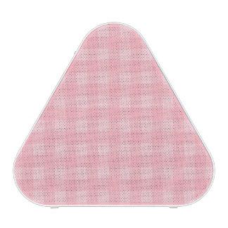 Retro rosa Gingham-karierter Muster-Hintergrund Bluetooth Lautsprecher