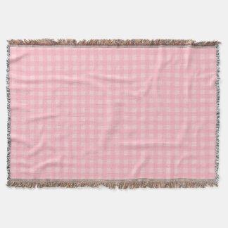 Retro rosa Gingham-karierter Muster-Hintergrund Decke