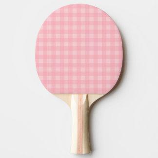 Retro rosa Gingham-karierter Muster-Hintergrund Tischtennis Schläger