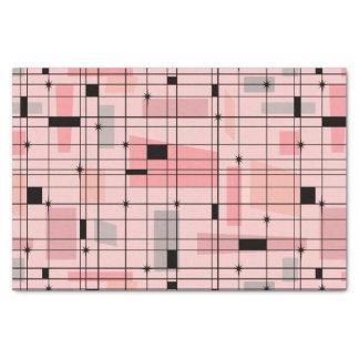Retro rosa Gitter-und Sternexplosion-Seidenpapier Seidenpapier