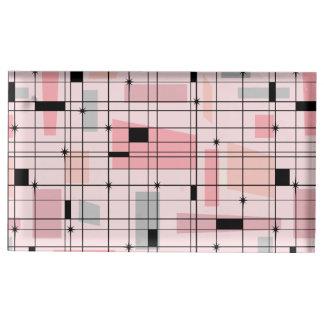 Retro rosa Gitter-und Tischnummernhalter