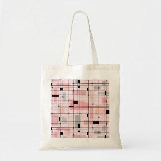 Retro rosa Gitter-und Tragetasche
