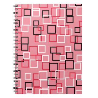 Retro rosa notizblock