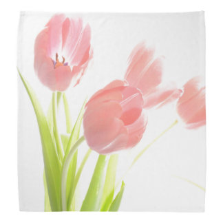 Retro rosa Tulpe-Blume der Bandanna rockabilly Kopftuch