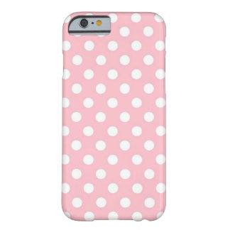 Retro rosa und weißer Tupfen iPhone 6 Kasten Barely There iPhone 6 Hülle