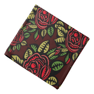 Retro Rosenkunst der Bandanna hübsch Halstuch