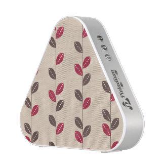 Retro Rot u. Brown-Blatt-Muster Bluetooth Lautsprecher