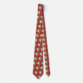 Retro rote karierte Snowman-Krawatte, Krawatte