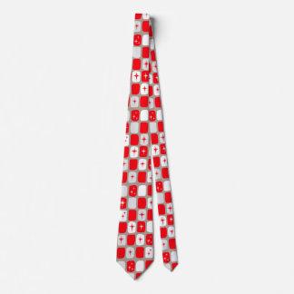 Retro rote Sternexplosion-Krawatte Krawatte