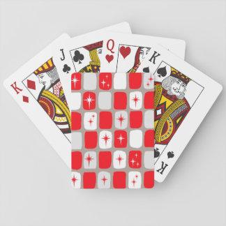 Retro rote Sternexplosion-Spielkarten Spielkarten