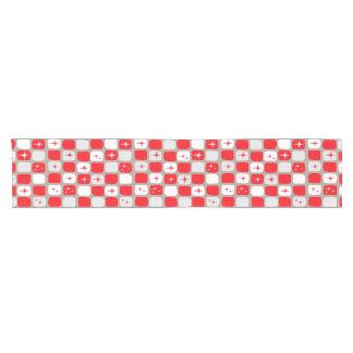 Retro roter Sternexplosion-Tabellen-Läufer Kurzer Tischläufer