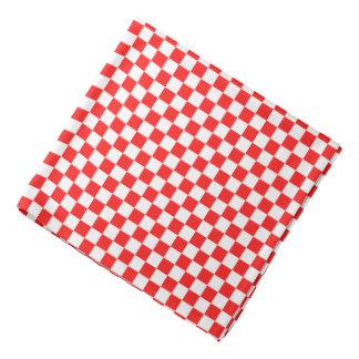 Retro roter und weißer Checkered RoseBandana Kopftuch