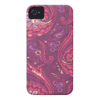Retro rotes Paisley-Muster iPhone 4 Cover
