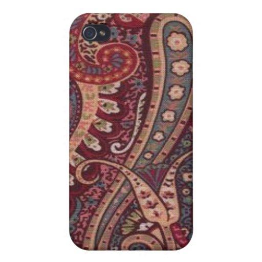 Retro rotes Paisley-Speck-Kasten iPhone 4 iPhone 4/4S Hüllen