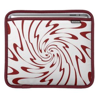 Retro Rotes und Weiß bewegt abstrakte Kunst wellen Sleeve Für iPads