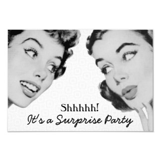 Retro sagen Sie Überraschungs-Geburtstags-Party V2 8,9 X 12,7 Cm Einladungskarte