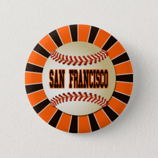 RETRO SAN FRANCISCO BASEBALL RUNDER BUTTON 5,1 CM