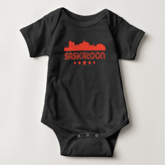 Retro Saskatoon-Skyline Baby Strampler