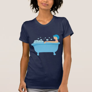 Retro Schaumbad-Mädchen T-Shirt
