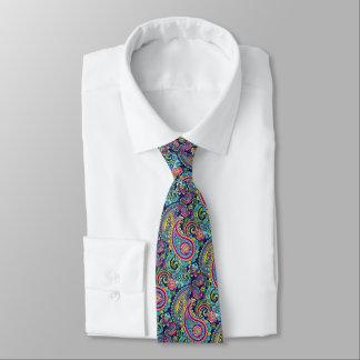 Retro schickes helles buntes Paisleyblumenmuster Bedruckte Krawatte