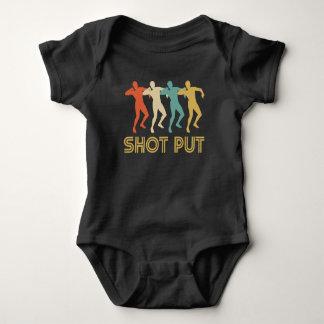 Retro Schuss gesetzte Pop-Kunst Baby Strampler