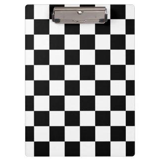 Retro schwarzes/weißes Kontrast-Schachbrett-Muster