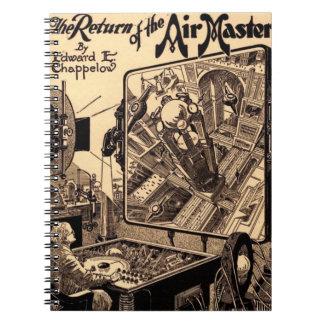 Retro Science Fiction-Rückkehr des Luft-Meisters Notizblock