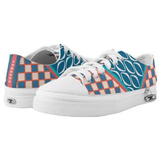 Retro Sechziger-Kalifornien-Schachbrett Niedrig-geschnittene Sneaker