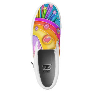 RETRO SECHZIGER-POP-KUNST-HIMMEL Slip-On SNEAKER