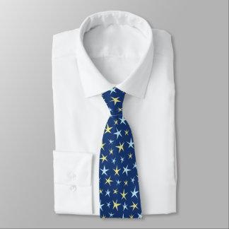 Retro Sechzigerjahre des Stern-Raum-Musters Krawatte