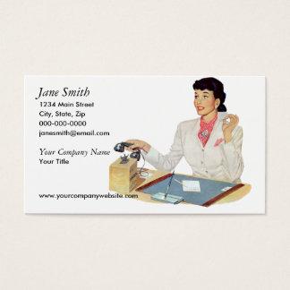 Retro Sekretär Visitenkarte