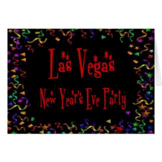 Retro Silvesterabend-Einladungen Las Vegass Karte