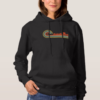 Retro Skyline Art-Lafayettes Louisiana Hoodie