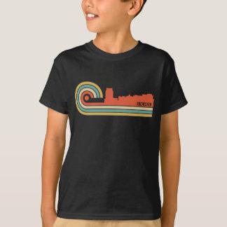 Retro Skyline Art-Rochesters Minnesota T-Shirt