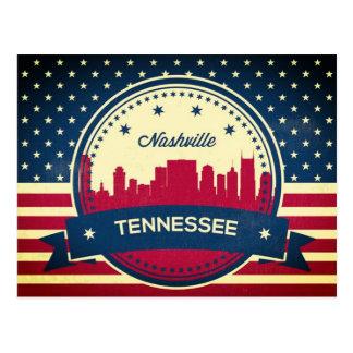 Retro Skyline Nashvilles Tennessee Postkarte