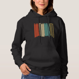 Retro Skyline Salt Lake Citys Utah Hoodie