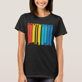 Retro Skyline Siebzigerjahre Art-South Bend T-Shirt