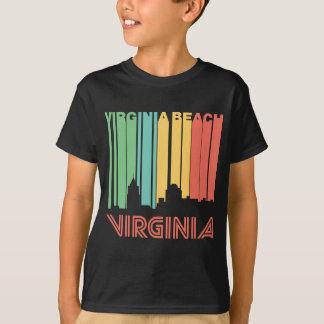 Retro Skyline Siebzigerjahre Art-Virginia Beach T-Shirt
