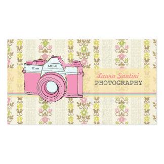 Retro SLR-Kamera-Fotografie-Visitenkarten