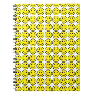 Retro Smiley-Gelb-Lächeln-Notizbuch Spiral Notizblock