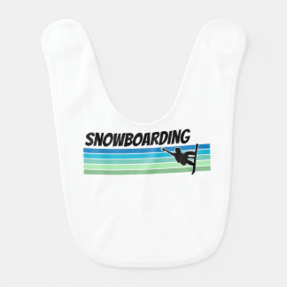 Retro Snowboarding Babylätzchen