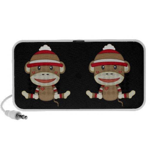 Retro Socken-Affe Notebook Lautsprecher
