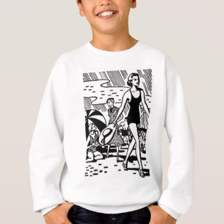 Retro Sommer am Strand Sweatshirt