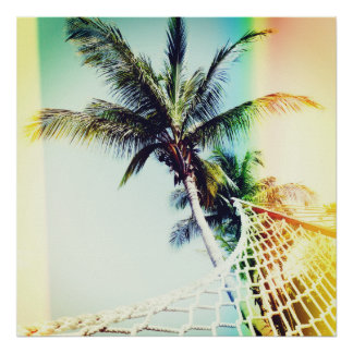 Retro Sommerzeit-Plakat Poster