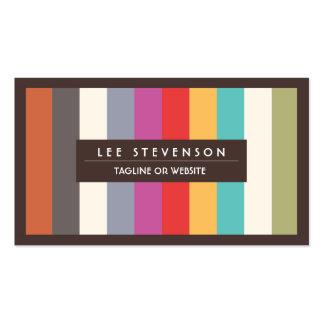 Retro Spaß-bunte multi Streifen Striped Visitenkarten