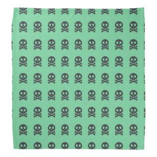 Retro Spaß-Grün-Schädel-Muster Halstuch